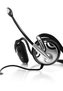 41821 Neck Band Multimedia Headphones - close up