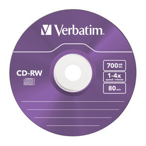 43133 CD-RW Colour Global Disc Surface Purple