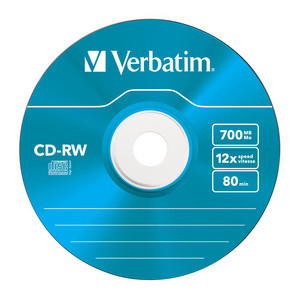 43167 CD-RW Colour Global Disc Surface Blue