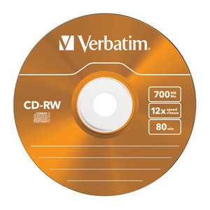43167 CD-RW Colour Global Disc Surface Orange
