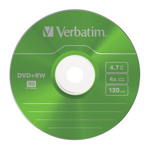 43297 DVD+RW Colour Global Disc Surface Green