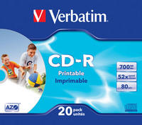 CD-R AZO Wide Inkjet Printable