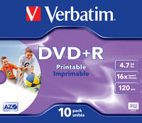 DVD+R Wide Photo Inkjet Printable ID Brand
