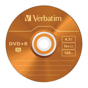 43556 DVD+R Colour Global Disc Surface Orange