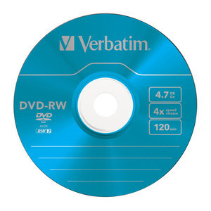 43563 DVD-RW Colour Global Disc Surface Blue
