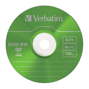 43563 DVD-RW Colour Global Disc Surface Green
