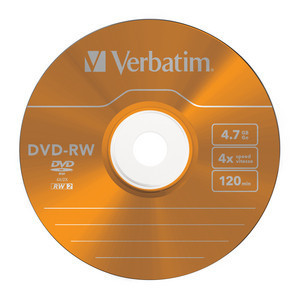 43563 DVD-RW Colour Global Disc Surface Orange