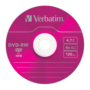 43563 DVD-RW Colour Global Disc Surface Pink