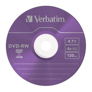 43563 DVD-RW Colour Global Disc Surface Purple