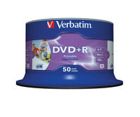 DVD+R Wide Inkjet Printable ID Branded