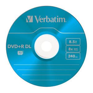 43682 DVD+R DL Colour Global Disc Surface Blue