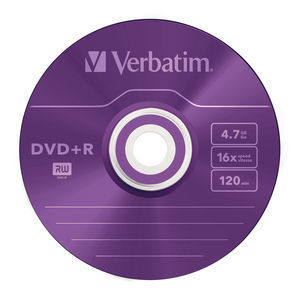 43733 DVD+R Colour Global Disc Surface Purple