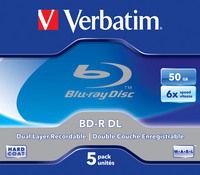 BD-R DL 50GB 6x 5 Pack Jewel Case