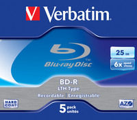 BD-R SL LTH Type 25GB 6x 5 Pack Jewel Case