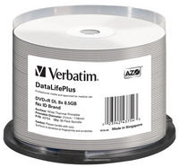 DVD+R DL 8x DataLifePlus Wide Thermal Printable 50pk Spindle - No ID Brand