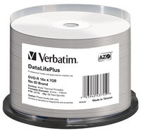 DVD-R 16x DataLifePlus Wide Thermal Professional 50pk Spindle - No ID Brand