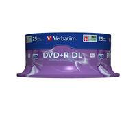 DVD+R Double Layer 8x Matt Silver 25pk Spindle