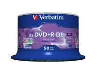 DVD+R Double Layer 8x Matt Silver 50pk Spindle