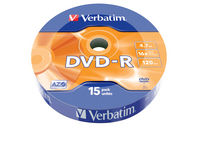 DVD-R Matt Silver 15 Pack Wrap Spindle