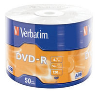 DVD-R Matt Silver 50PK Wrap Spindle