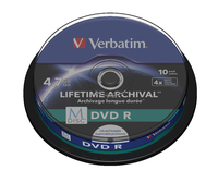 Verbatim MDISC Lifetime Archival DVD R - 10 Pack Spindle