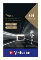 Verbatim Pro+ U3 Micro SDHC/SDXC-Karten