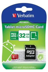 Carte mémoire microSDHC pour tablette