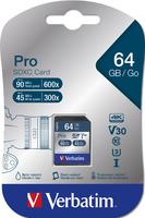 Scheda SDHC/SDXC Pro U3 Verbatim