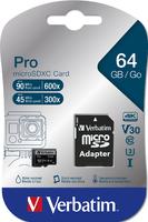 Schede SDHC/SDXC Micro Pro U3 Verbatim