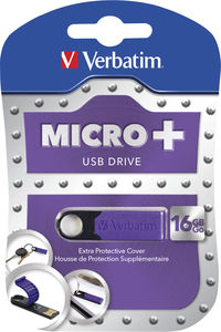 Micro+ USB-stick 16 GB - Violet