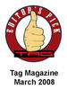 47501 Tag Magazine test winner logo