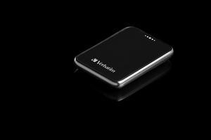 Verbatim Pocket Hard Drive USB 2.0 - Angled Black Background