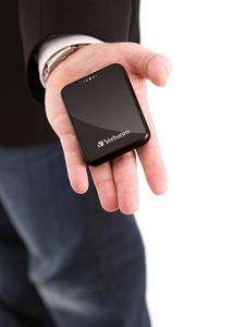 Verbatim Pocket Hard Drive USB 2.0 Mans hand