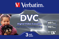 Pack de 3 Digital Video Cassettes de 60 minutos.