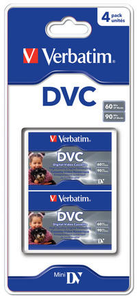 Pack de 4 Digital Video Cassettes de 60 minutos.