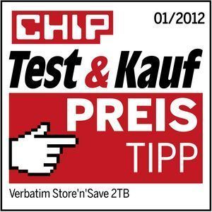 47672 Verbatim. Chip Magazine Price Tip. Germany. Jan 2012