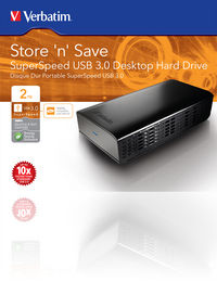 Store 'n' Save Hard drive USB 3.0 SuperSpeed da tavolo da 2 TB