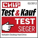 47672 Verbatim. Chip Magazine Test winner. Germany. Feb-Mar 2012