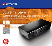 Store 'n' Save SuperSpeed USB 3.0 Desktop Hard Drive 3 TB