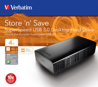 Store 'n' Save Hard drive USB 3.0 SuperSpeed da tavolo da 4 TB