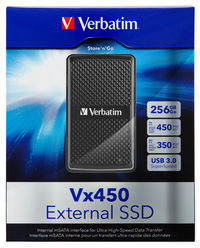 Vx450 USB 3.0 External Solid State Drive 256GB