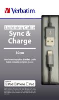 Kabel Verbatim s konektorem Lightning – vesmírně šedá – 30 cm