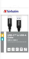 Câble de synchronisation et de charge USB-C vers USB-A en acier inoxydable