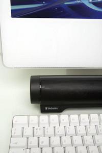 Audio Bar with Mac close-up