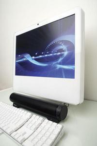 Audio Bar with Mac angled