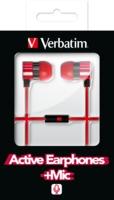 Aktive høretelefoner med mikrofon – Rød