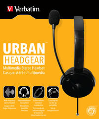 Multimedia-On-Ear-Stereo-Headset von Verbatim