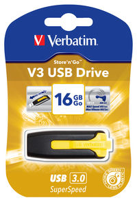 Napęd V3 USB 16 GB — słoneczny żółty