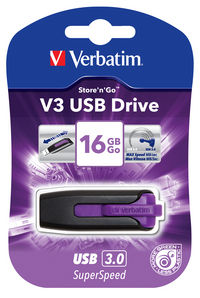 V3 USB pogon 16 GB - ljubi�asti