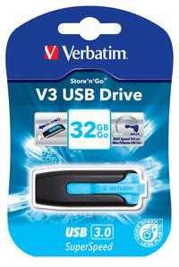 Memoria USB V3 de 32GB: Azul turquesa